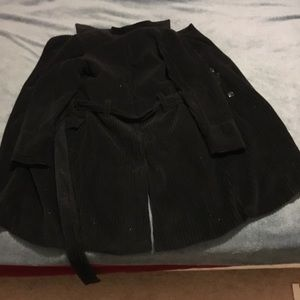 Black, warm, medium sized jacket